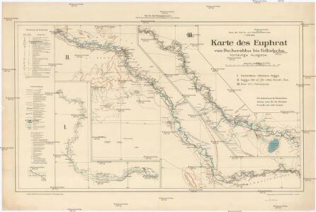 Karte des Euphrat von Dscherablus bis Felludscha Karte des Euphrat von Dscherablus bis Felludscha
