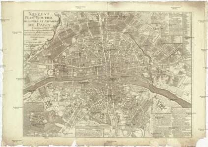 Nouveau plan routier de la ville et fabourg de Paris