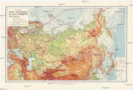 Příruční mapa Svazu sovětských socialistických republik
