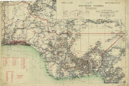 Map of the Gold Coast, Ashanti and Northern Territories
