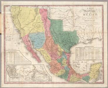A Map Of The United States Of Mexico.