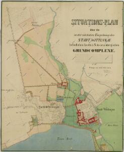 Situační plán Třeboně s okolními pozemky 1