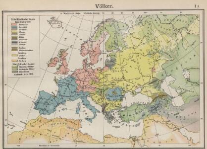 Völkerkarte von Europa