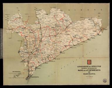 Mapa de la 3a demarcació de Barcelona. 21 dabril 1933 / Generalitat de Catalunya. Obres Públiques