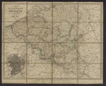 Carte physique et routière de la Belgique et de ses pans limitrophes