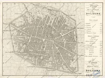 Plan de la Ville de Bologne