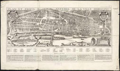 Plan et profil au naturel de la ville d'Orleans