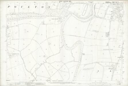 Cheshire XLVI.15 (includes: Aldford; Allington; Poulton) - 25 Inch Map