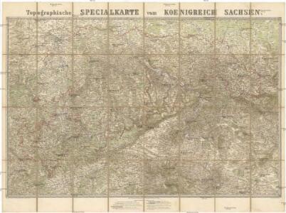 Topographische Specialkarte vom Koenigreich Sachsen