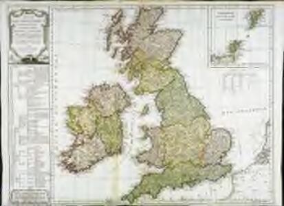 Carte des isles Britanniques qui renferment les royaumes d'Angleterre d'Ecosse [et] d'Irlande