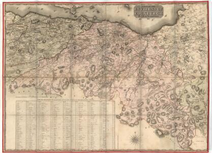 A map of the environs of Edinburgh.