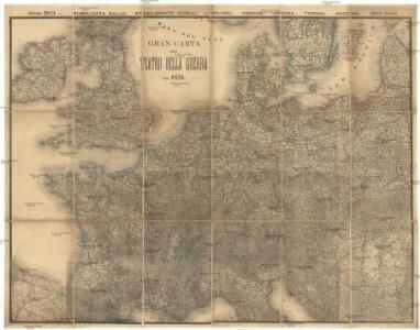 Gran carta del teatro della guerra nel 1870