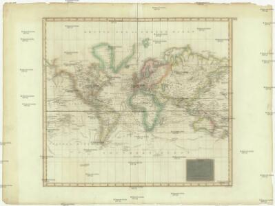 Hydrographical chart of the world on Wright or Mercator projection