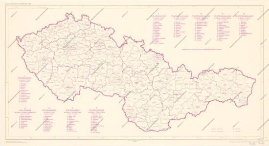 Mapa správního rozdělení ČSR