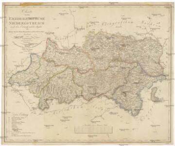 Charte von dem Erzherzogthume Niederöstreich