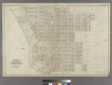 Plate 38: Bounded by Jefferson Street, Duryea Avenue, Henry Avenue, Atlantic Avenue, Williams Place, Jamaica Turnpike, Broadway, Cactus Place, and Highland Boulevard.