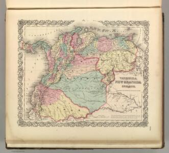 Venezuela, New Granada (Colombia) and Ecuador.