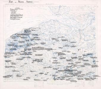 Map of water supply: Ghent