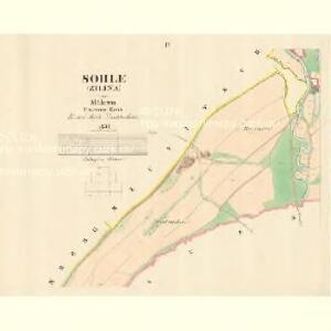 Söhle (Zilina) - m3665-1-003 - Kaiserpflichtexemplar der Landkarten des stabilen Katasters
