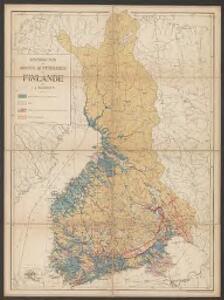 Distribution des dépôts quaternaires en Finlande