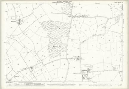 Essex (1st Ed/Rev 1862-96) XII.10 (includes: Bulmer; Great Henny; Little Henny; Twinstead; Wickham St Paul) - 25 Inch Map