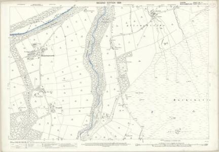 Durham XVI.4 (includes: Hunstanworth; Shotley High Quarter) - 25 Inch Map