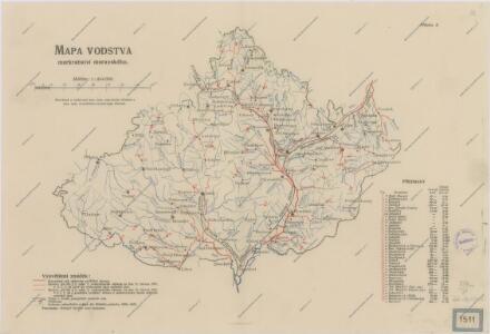 Mapa vodstva markrabství Moravského
