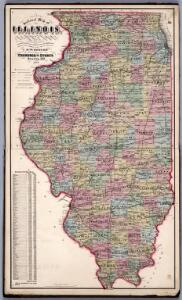 Sectional Map of Illinois ... by D.W. Ensign, Published by Thompson and Everts, Geneva, Illinois, 1871.