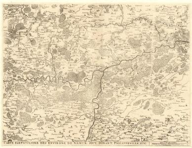 Carte particuliere des environs de Namur, Huy, Dinant, Philippeville, etc.