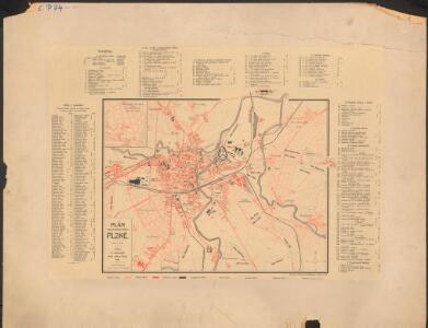 Plán královského města Plzně : příloha k Adresáři města Plzně 1905