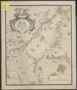 Plan de la situation de l'Armée allié campée au bord de l'Eescaut 1744, de même que l'Armée françoise, retranchée derrière La Lis, l'année 1744