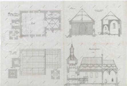 Plán doudlebského kostela 1