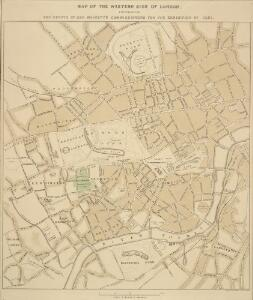 MAP OF THE WESTERN SIDE OF LONDON, DISTINGUISHING THE ESTATE OF HER MAJESTY'S COMMISSIONERS FOR THE EXHIBITION OF 1851.
