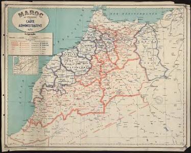 Maroc au 1 500 000e. Carte administrative. 1937