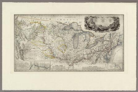 Map to illustrate the route of Prince Maximilian of Wied in ... North America.