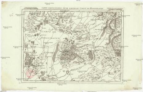 Carte particuliere des environs d'une partie du comté de Hoogstraten