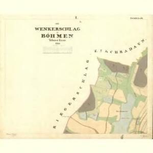 Wenkerschlag - c1370-2-001 - Kaiserpflichtexemplar der Landkarten des stabilen Katasters