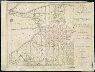 Map of Morris's Purchase or West Geneseo in the state of New York : exhibiting part of the Lakes Erie and Ontario, the Straights of Niagara ...