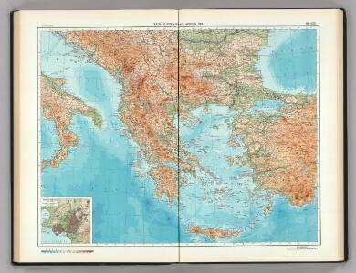 99-100.  Balkan Peninsula, Aegean Sea.   The World Atlas.