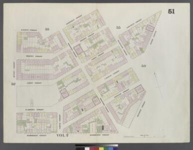 Plate 51: Map bounded by Bleeker Street, Cornelia Street, Sixth Avenue, Carmine Street, Bleeker Street, Hancock Street, Hammersley Street, Hudson Street, Barrow Street, Commerce Street