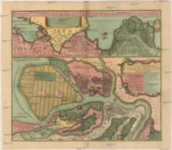 Nova et accuratißima Urbis S.t PETERSBURG a Rußorum Imperatore Petro Alwexiewiz A.o 1703 ad ostium Nevae Fl. conditae et regionis circumjacentis Delineatio