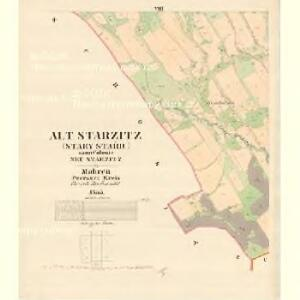 Alt Starzitz (Stary Stařic) - m2878-1-008 - Kaiserpflichtexemplar der Landkarten des stabilen Katasters
