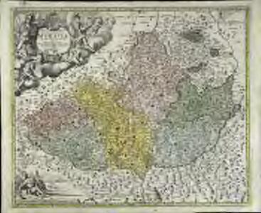 Tabula generalis marchionatus Moraviæ in sex circulos divisæ