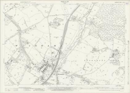 Hampshire and Isle of Wight LXVII.9 (includes: Shedfield; Soberton; Wickham) - 25 Inch Map