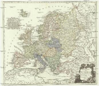 Karte von Europa nach dem D'Anville und Has neu verzeichnet