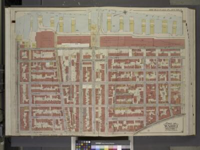 Brooklyn, Vol. 1, Double Page Plate No. 4; Part of    Wards 1, Section 1; [Map bounded by Atlantic Ave., Furman St., Columbia Heights; Including  Cranberry St., Fulton St., Clinton St.]