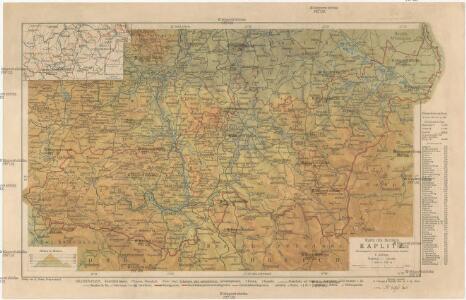 Karte des Bezirkes Kaplitz