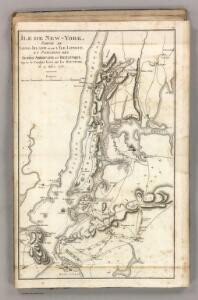 Ile de New York et Positions des Armees Americaine et Britannique, 27 Aout 1776.