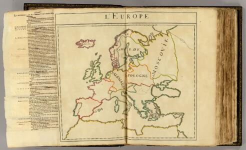 L'Europe (nom, maison, religion, etc. des souverains)
