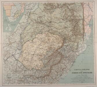 Carte du théatre de la guerre Sud Africaine